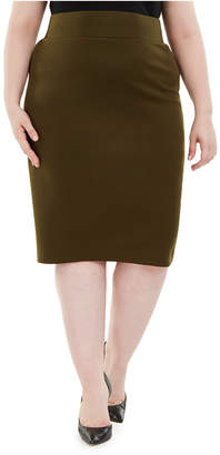 Alfani Plus Size Knit Pencil Skirt