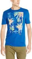 Original Penguin Men's S/S Neon Palm Print T-Shirt