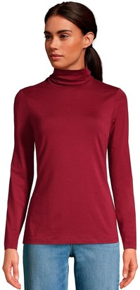 Lands' End Women's Lightweight Fitted Turtleneck