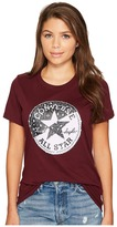 Converse Spliced Leopard Chuck Patch Short Sleeve Crew Tee Women's T Shirt