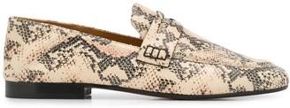 Isabel Marant Snakeskin-Effect Penny Loafers