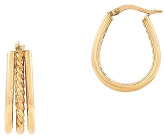 Saks Fifth Avenue Made In Italy 14K Yellow Gold Twist Hoop Earrings