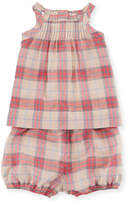 Burberry Marissan Check Shirt w/ Matching Shorts, Size 3-24 Months