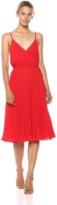 Ali & Jay Women's Wrap Top Pleated Fit & Flare Sleeveless Dress