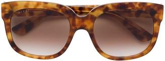 Gucci Havana Square Sunglasses