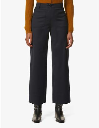 Sessun Straight-leg high-rise wool-blend trousers