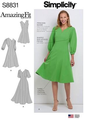 Simplicity Women's Amazing Fit Dress Sewing Pattern, 8831