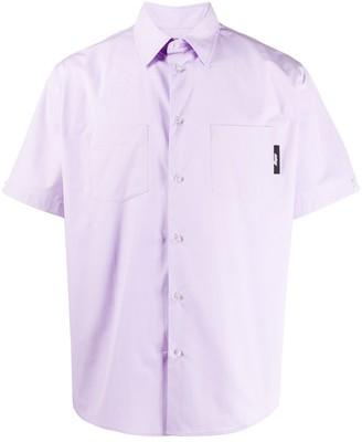 MSGM Logo-Patch Short-Sleeve Shirt