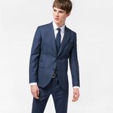 Paul Smith Men's Slim-Fit Slate Blue Tonal-Check Three-Piece Wool Suit