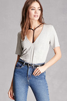 Forever 21 FOREVER 21+ Cutout T-Shirt Tunic