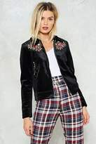 Nasty Gal Smooth Moves Velvet Jacket