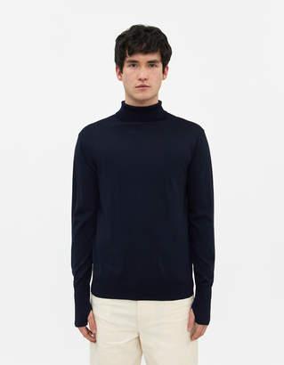 Andersen Andersen Light Turtleneck Sweater in Navy Blue