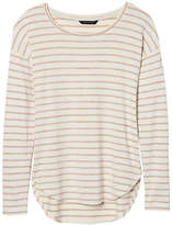 Banana Republic Stripe Soft Jersey High-Low Curved Hem Tee