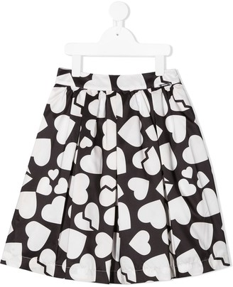 Msgm Kids heart-print A-line skirt