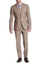 HUGO BOSS Jewels/Linus Two Button Notch Lapel Trim Fit Wool Suit