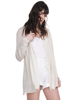 White + Warren Linen Open Cardigan