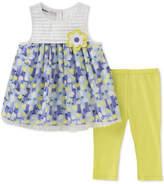 Kids Headquarters 2-Pc. Floral-Print Tunic & Leggings Set, Little Girls