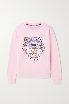 Kenzo Embroidered Cotton-jersey Sweatshirt - Pastel pink