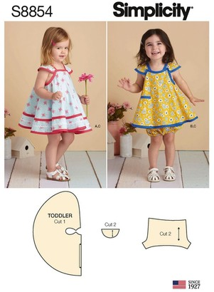 Simplicity Children's Dresses Sewing Pattern, 8854