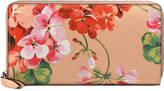 Gucci Blooms print zip around wallet