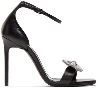 Saint Laurent Black Amber Sandals