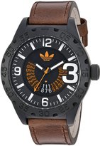 adidas Men's 'Newburgh' Quartz Rubber and Leather Casual Watch, Color: (Model: ADH3191)