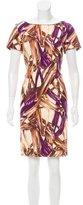 Carolina Herrera Printed Knee-Length Dress