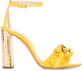 Casadei fringed strap daytime sandals - women - Suede/Leather - 35