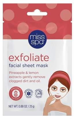 Miss Spa Exfoliate Facial Sheet Mask - 1ct/0.88oz