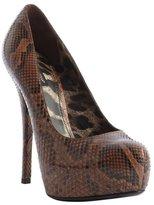 Dolce & Gabbana brown snakeskin platform pumps