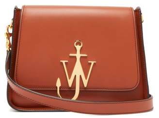 J.W.Anderson Anchor Logo-plaque Leather Cross-body Bag - Womens - Tan