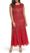Pisarro Nights Plus Size Women's Beaded Gown