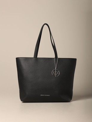 Armani Collezioni Armani Exchange Tote Bags Armani Exchange Shopping Bag In Synthetic Leather