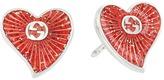 Gucci Enameled Heart Earrings Earring