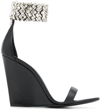 Giuseppe Zanotti Embellished Wedge Heel Sandals