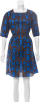 Sophie Theallet Printed Three-Quarter Sleeve Dress