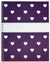 Pottery Barn Kids Notebook, Mackenzie Plum Glitter Heart