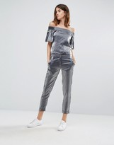 Vero Moda Slim Crop Satin Pants