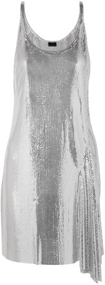 Paco Rabanne Asymmetric Chainmail Mini Slip Dress