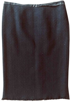 Philosophy di Alberta Ferretti Black Wool Skirt for Women
