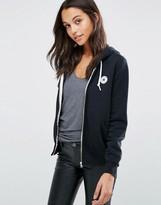 Converse Black Classic Logo Fleece Full Zip Hoodie