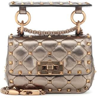 Valentino Rockstud Spike Micro leather crossbody bag