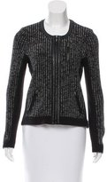Rag & Bone Leather-Trimmed Knit Jacket