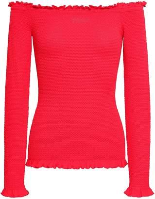 Altuzarra Off-the-shoulder Ruffle-trimmed Knitted Top