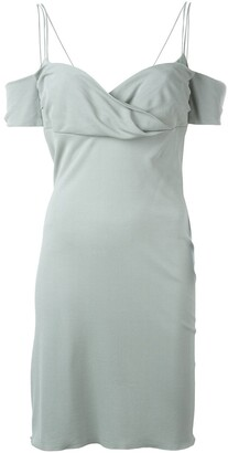 Romeo Gigli Pre Owned Off-The-Shoulder Dress