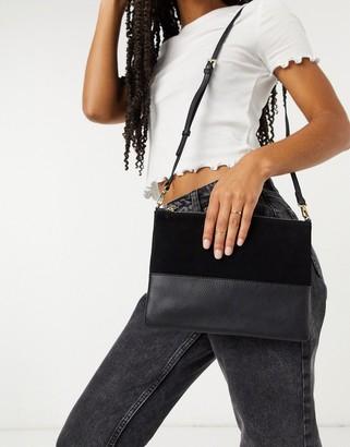 Accessorize Carmela cross body bag in black leather