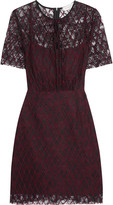 Sandro Reply embroidered lace mini dress