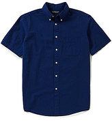 Roundtree & Yorke Short-Sleeve Solid Seersucker Shirt