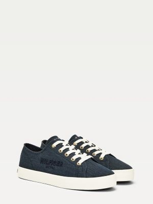 Tommy Hilfiger Logo Embroidery Low-Top Trainers