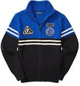 Ralph Lauren Cotton-Wool Full-Zip Sweater